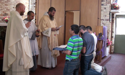Video – Mission Down Under #17: Receiving the Franciscan habit of a Postulant