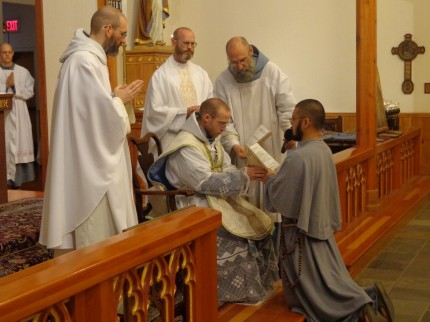 Fi News: Two Friars Make First Profession of Vows, and Renewal of Vows