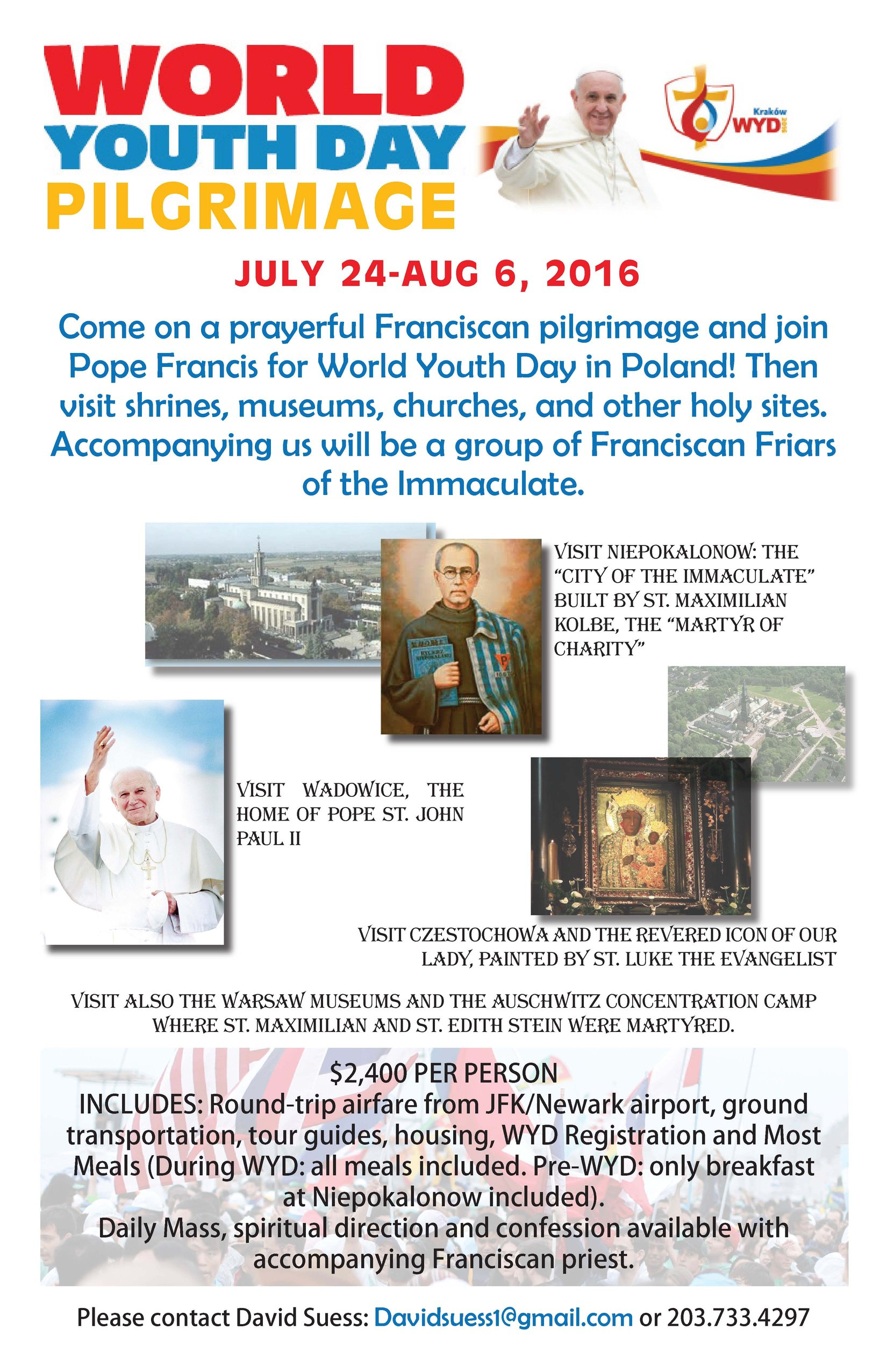 World Youth Day 2016 with Friars flyer