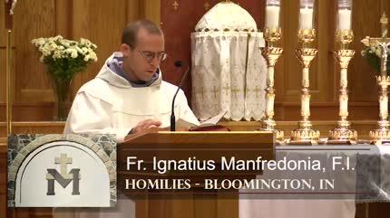 Oct 12 – Homily – Fr Ignatius: Pro-life Vote