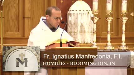 Dec 07 – Homily – Fr Ignatius: Rest in the Creator not Creatures
