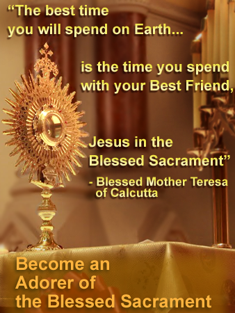A Prayer Of An Adorer Of Jesus In The Blessed Sacrament
