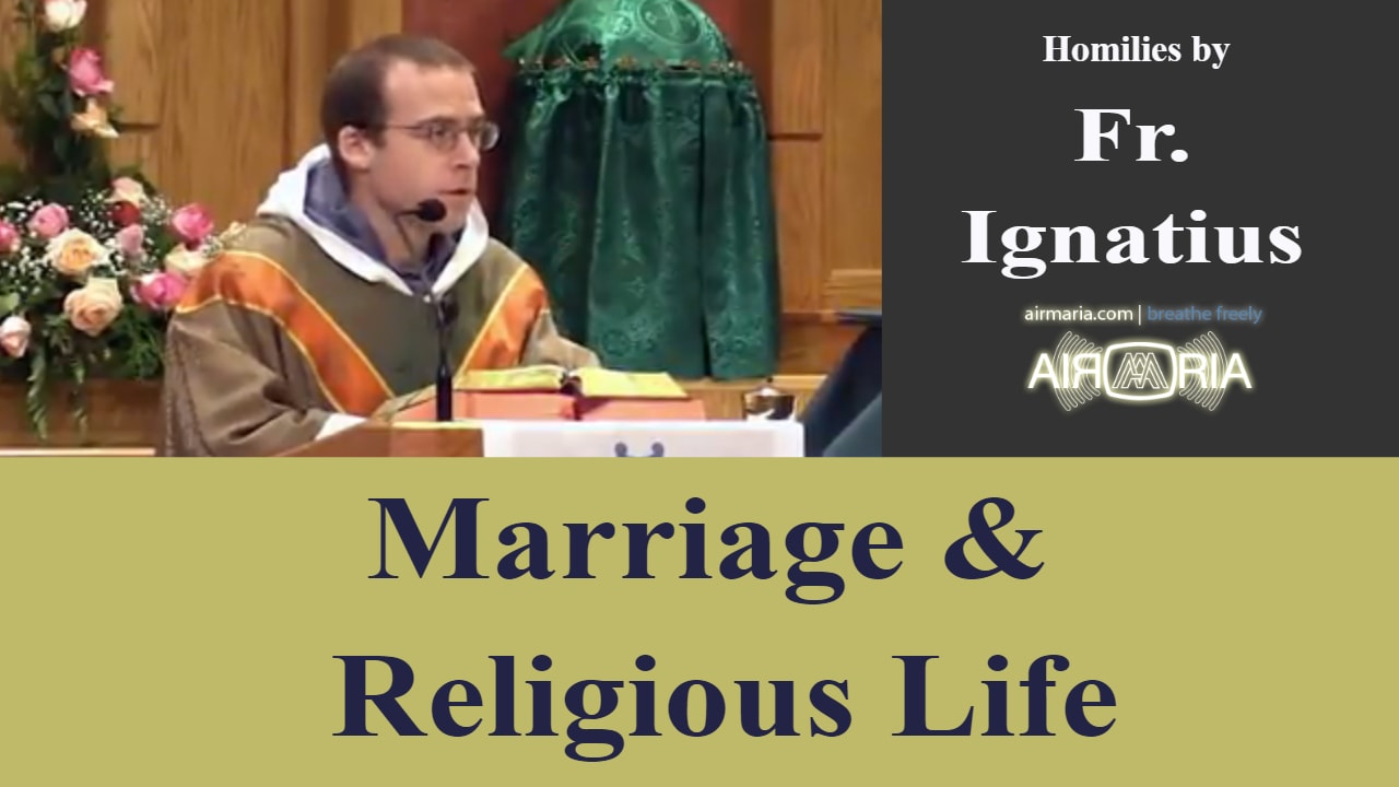Aug 18 – Homily – Fr Ignatius: Marriage and Religious Life