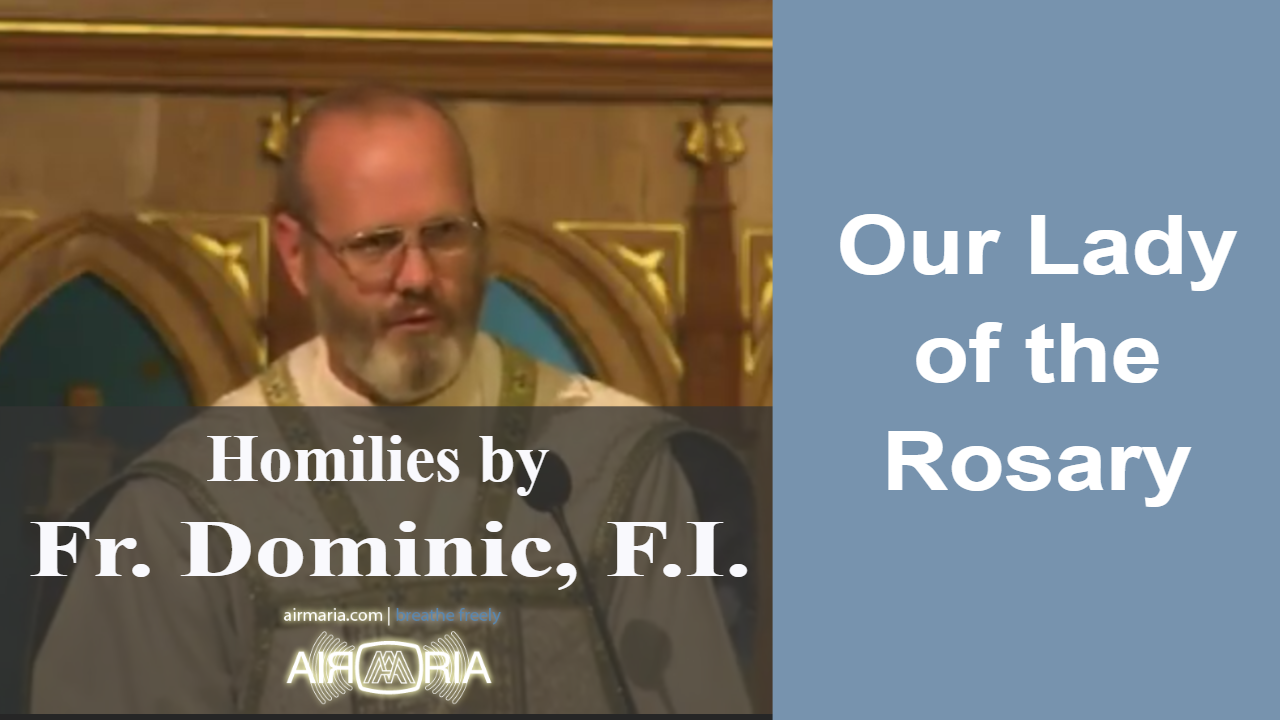 Oct 07 – Homily – Fr Dominic: Our Lady of the Rosary