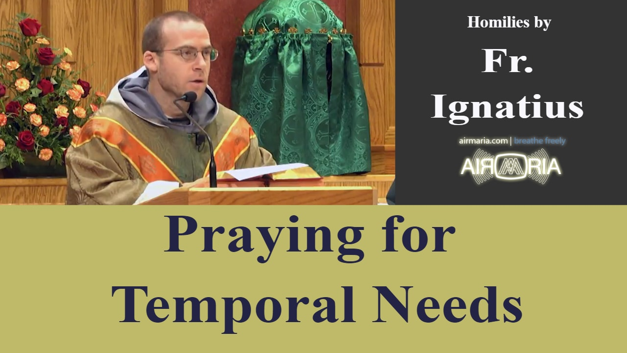 Oct 11 – Homily – Fr Ignatius: Praying for Temporal Needs