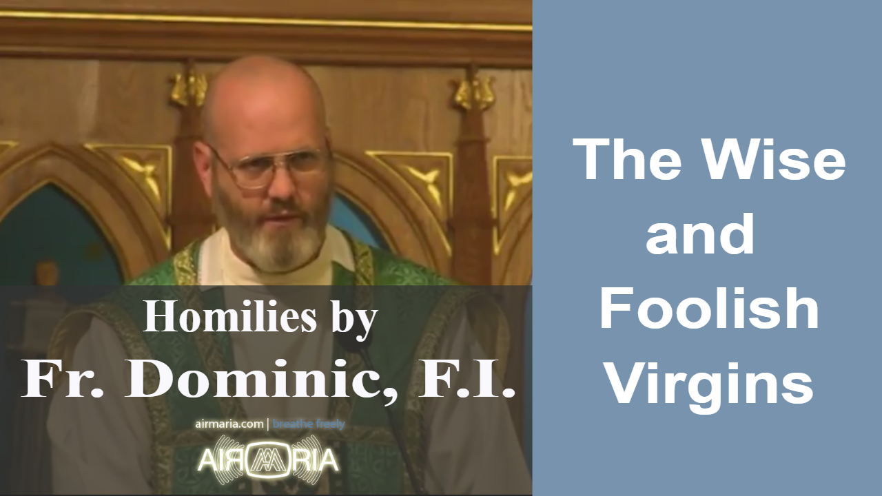 Nov 12 – Homily – Fr Dominic: The Wise and Foolish Virgins