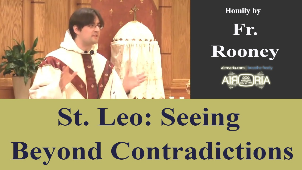 Nov 10 – Homily – Fr. Rooney: St. Leo, Seeing Past Contradiction