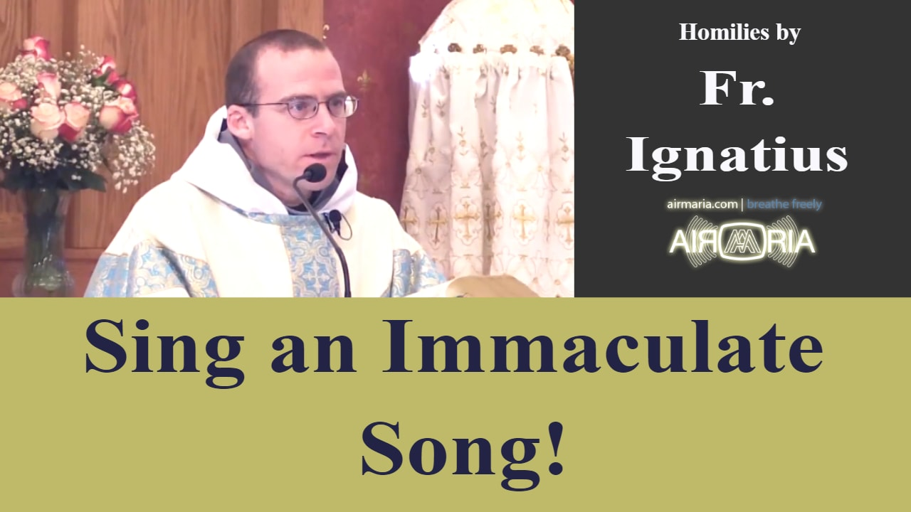 Dec 08 – Homily – Fr Ignatius: Sing an Immaculate Song!