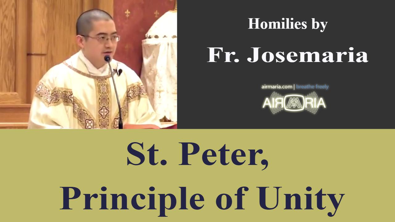 Peter, Principle of Unity – Feb 22 – Homily – Fr Josemaria