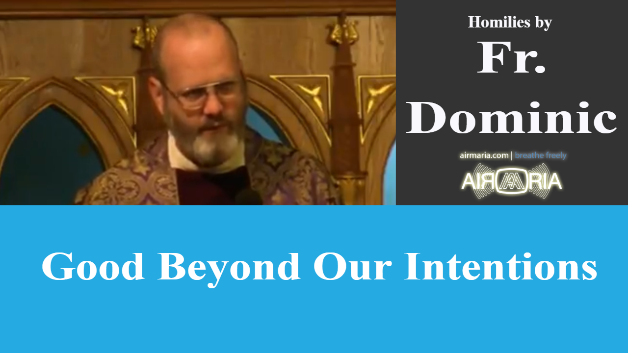 Good Beyond Our Intentions – Mar 24 – Homily – Fr Dominic