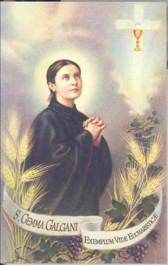 St. Gemma and Her Love for the Holy Eucharist