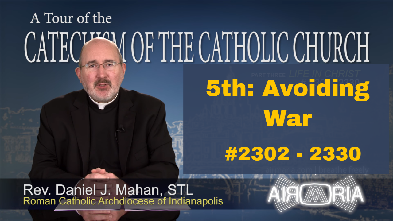 Video – 5th Commandment – Avoiding War – Tour of the Catechism #86