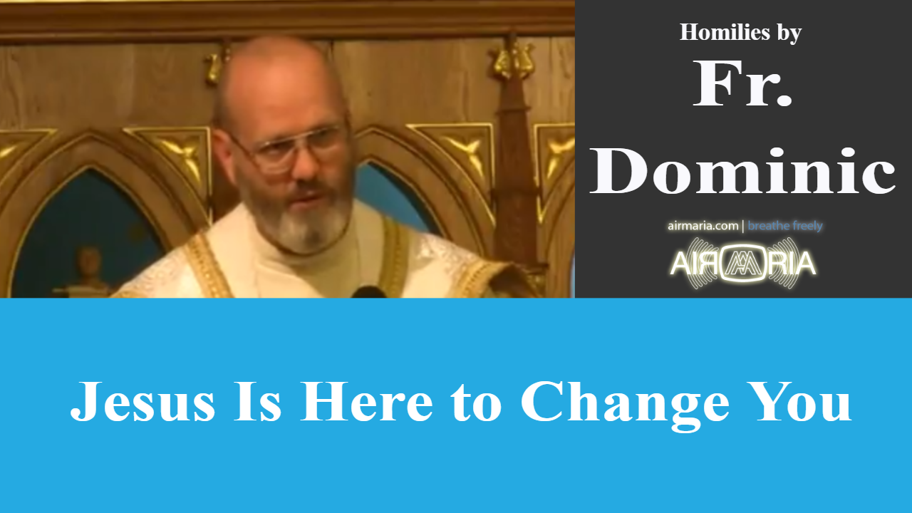 Jesus Is Here to Change You – Apr 15 – Homily – Fr Dominic