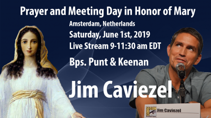 Live Stream Event Saturday with Jim Caviezel