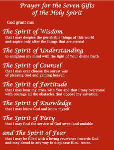 Pray for the Gifts of the Holy Spirit