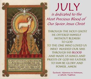 July: Month Dedicated to the Most Precious Blood of Jesus ...